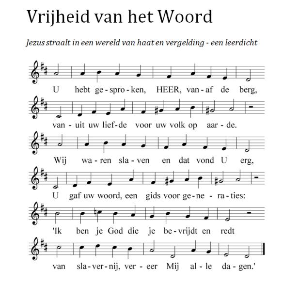Vrijheid vh Woord voor blog (muziek erbij)