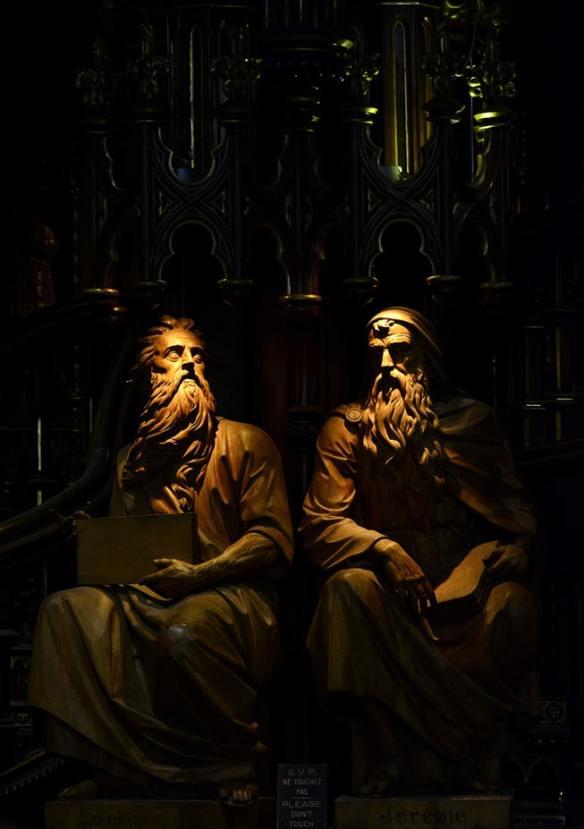 ezechiel en jeremia Basilica Notre-Dame de Montreal unsplash